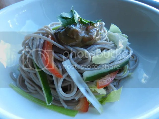 Noodle Salad with Spicy Peanut Sauce