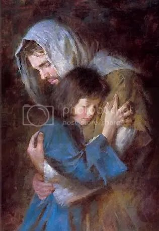 Jesus holding little girl photo: Jesus Jesus_099.jpg