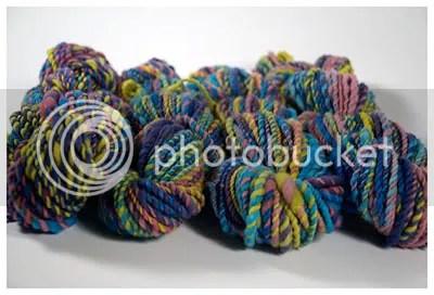 4 skeins handspun yarn