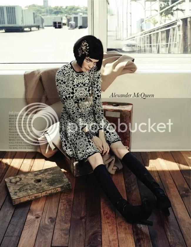 ELLE Korea Editorial Iconic Coco Coco Rocha shot by Hong Jang Alexander McQueen