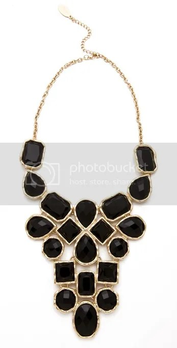 Adia Kibur Black Stone Bib Necklace