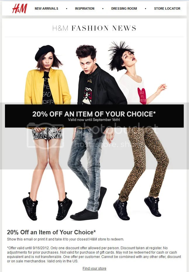 H&M Coupon Expires Sept 16