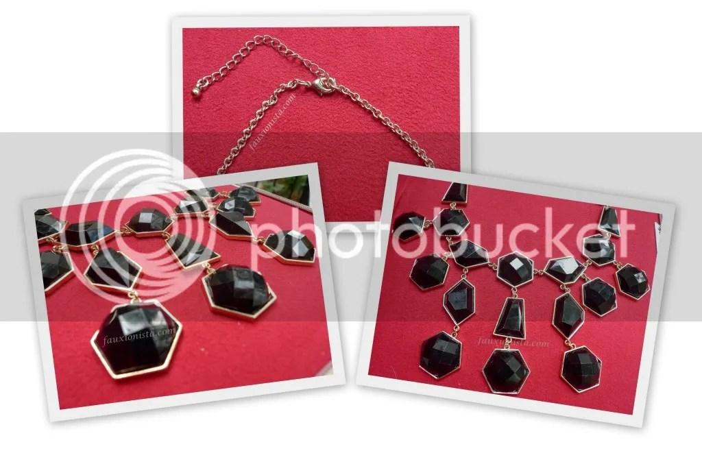 H&M Black Statement Necklace Details