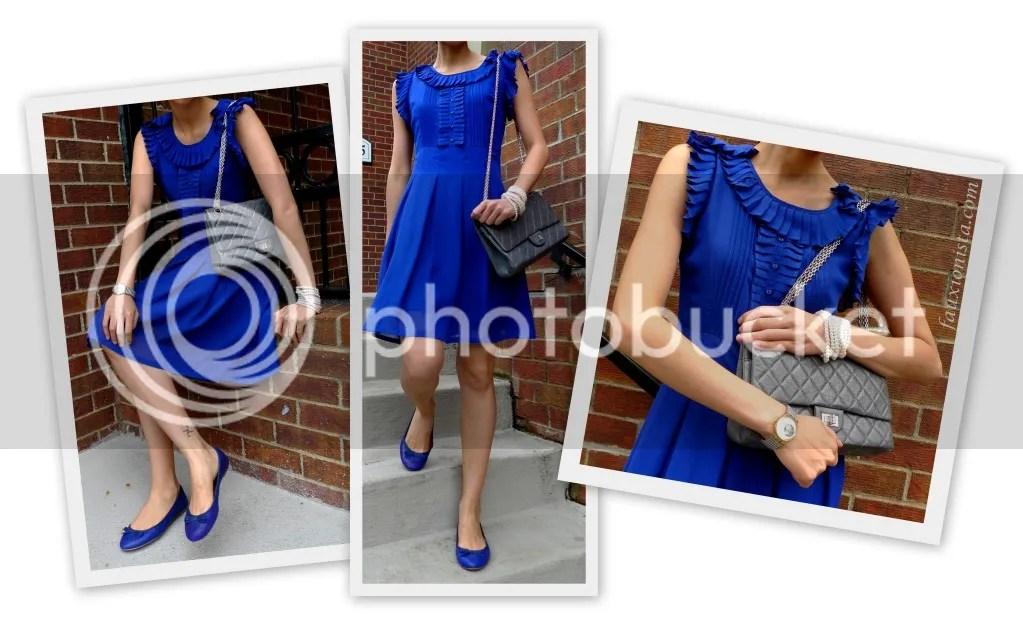 Monday Blues - Ruffled Dress