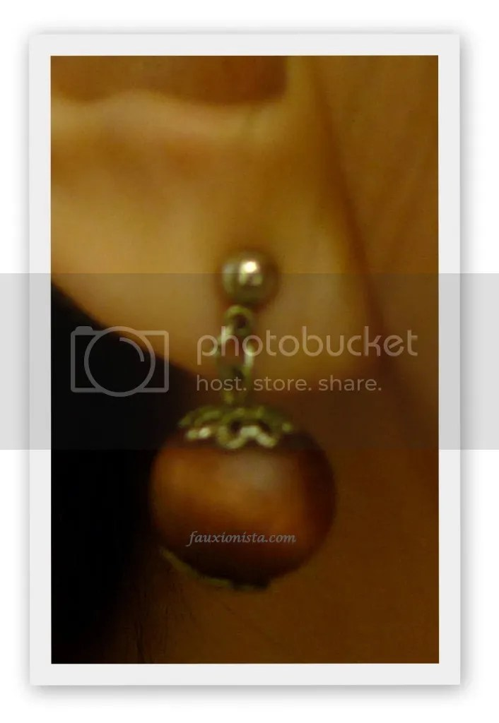 Fauxionable Outfit - Orange Crush Jasmine Sola wood earrings