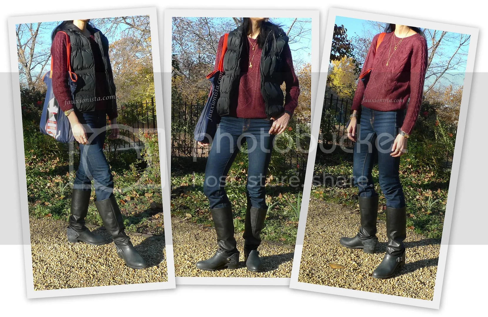 Fauxionable Outfit - Burgundy Oxblood H&M Sweater