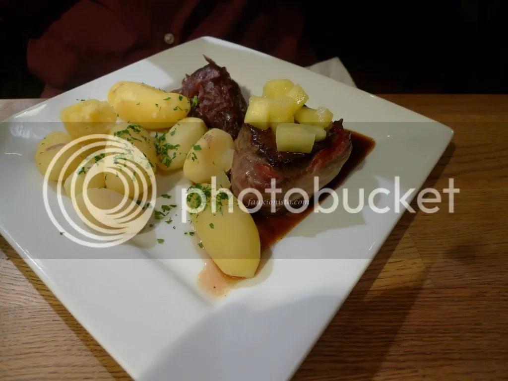 Whale Steak at Albertine Cafe & Bar Oslo