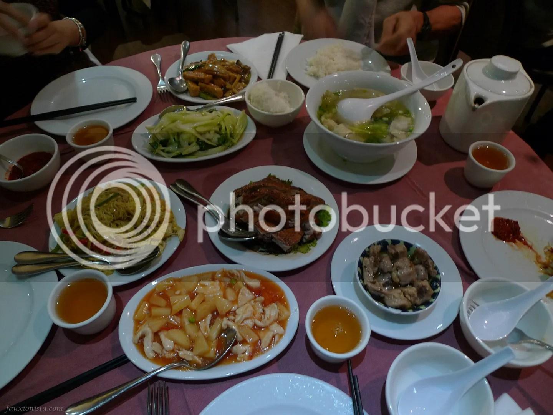 Late lunch spread at Paris' Opera Mandarin