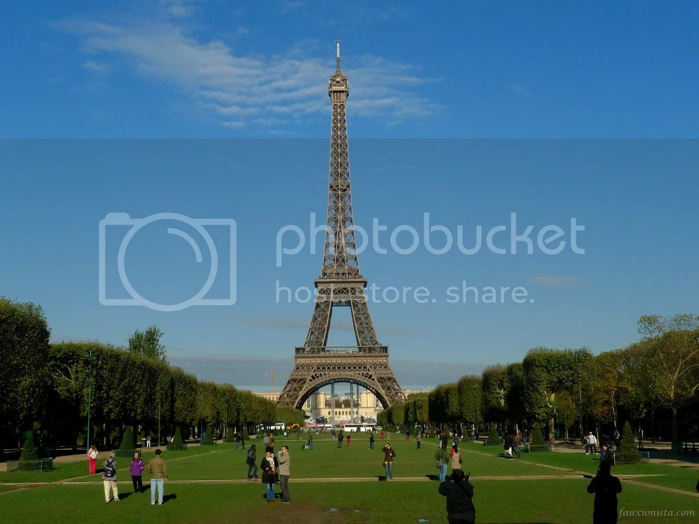 View of Eiffel Tower from Wall of Peace