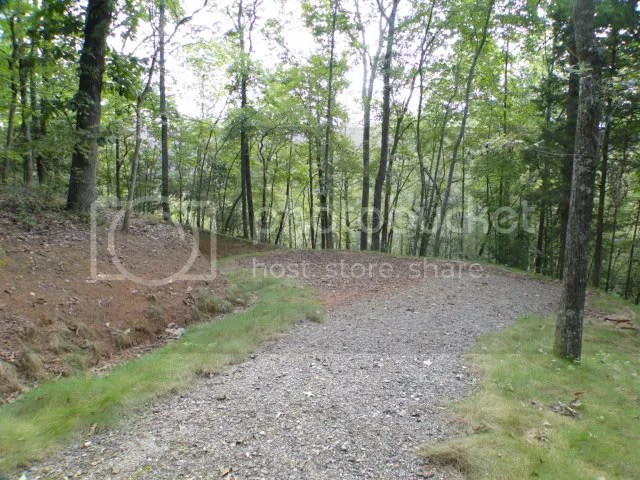 The home site has been rough graded for you, and the gravel road is in place, Franklin NC Real Estate, Little Tennessee River Land, Otto NC Real Estate