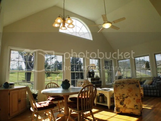 Beautiful sunroom with lots of light pouring in from the golf course, Mill Creek Country Club Home for Sale, Mountain Golf Course Homes for Sale