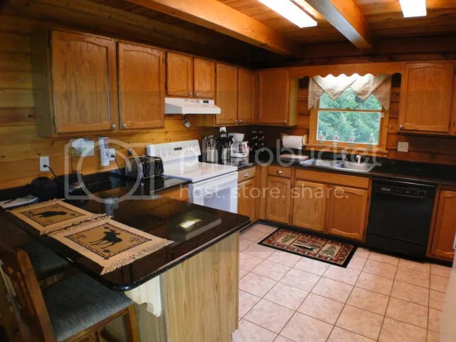 Country kitchen for those fixin's, 743 Rebel Ridge Rd Otto NC, Keller Williams Realty, Franklin NC Log Cabin