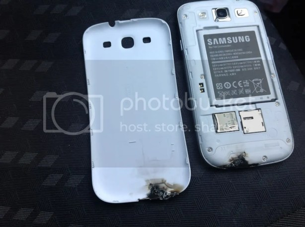 Samusng Galaxy S 3 Exploded
