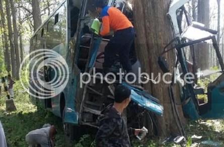 Inna lillahi, Bus Pengangkut Pemudik Kecelakaan di Hutan Angker