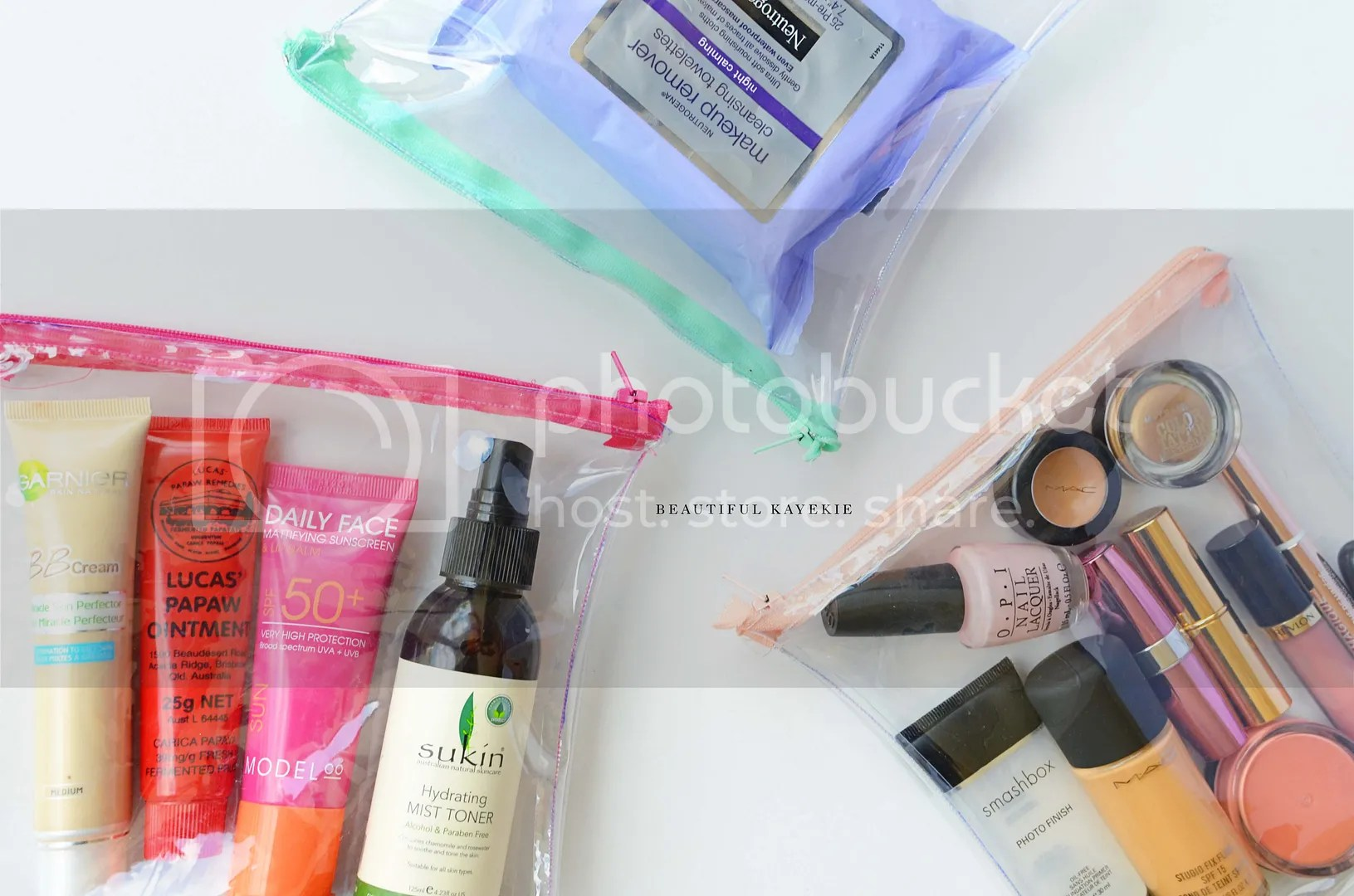 DIY Clear Travel TSA Makeup Accessory Bag