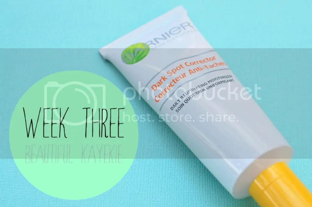 Garnier Dark Spot Corrector Week 3 Update