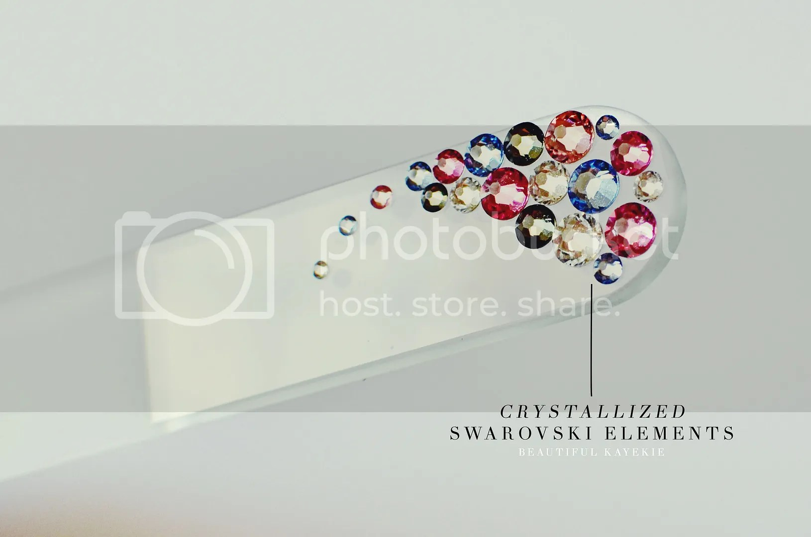 mont bleu glass swarovski nail file
