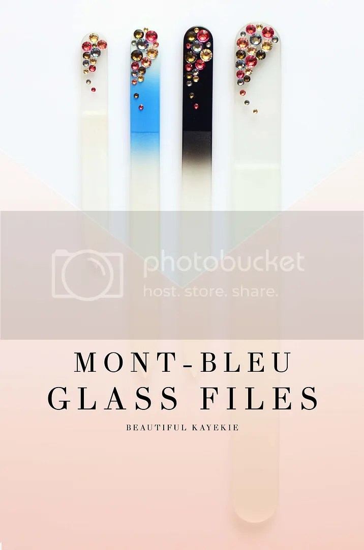 Mont Bleu Glass Nail Files Swarovski