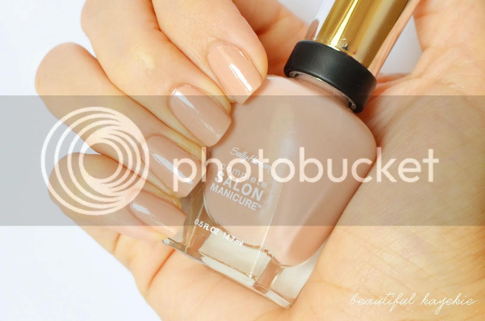 Sally Hansen Cafe Au Lait complete salon manicure