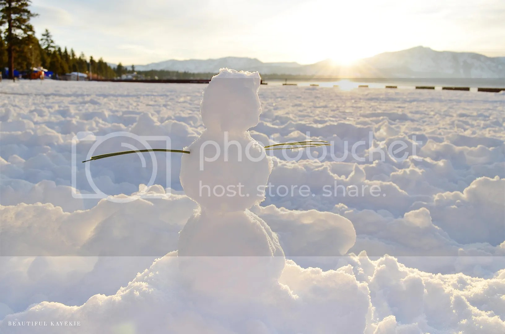 miniature snowman lake tahoe