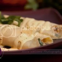 Day 73 : Chicken Florentine Crepes with Hollandaise Sauce