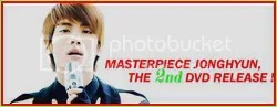 Master Piece Jong Hyun 2nd DVD
