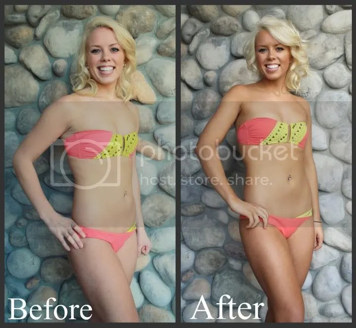 spray tan before and after pictures