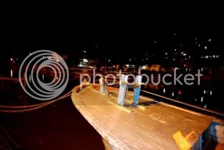 Pelabuhan Kapal Tradisional Padang Senja Hari