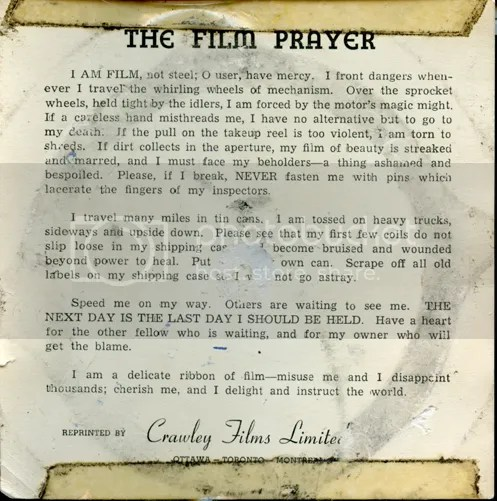 The Film Prayer
