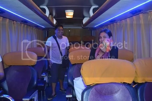Joy Bus Cubao to Baler 2 x 1 seater bus