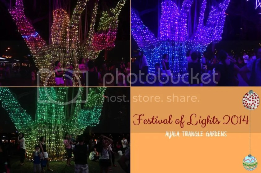 Festival of Lights 2014 Ayala Triangle Gardens