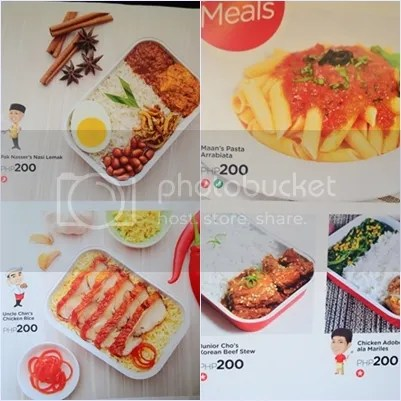 Menu Air Asia Hot Meals
