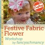 Festive Fabric Flower Workshop Badge