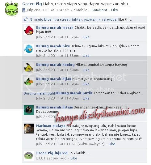 Angry Bird, angry bird ipad, playing angry bird, angry bird chracter, burung marah, Update status facebook, bila geng2 angry bird main fb, status fb yang kelakar, fb funny, update facebook yang kreatif, angry bid,angry bird playing fb