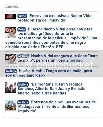 Listado noticias de la pelí de Nacho Vidal en la que no sale en bolas