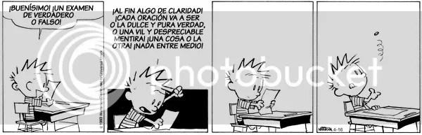 Comic de Calvin and Hobbes