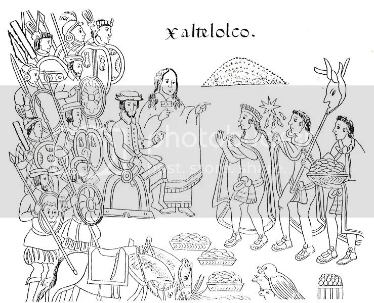 Cortés encounters the Tlaxcalans.