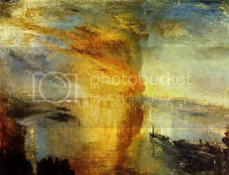 J. M. W. Turner, The Burning of the House of Parliament.