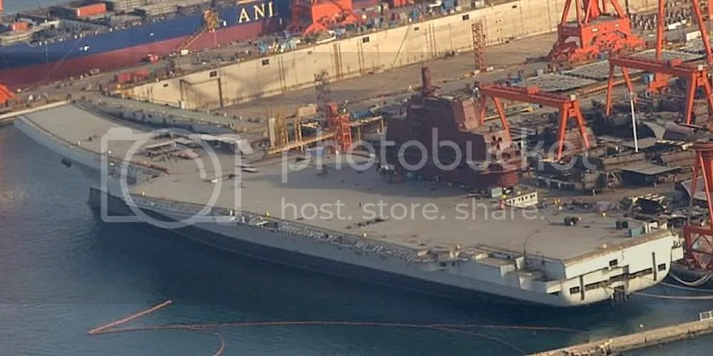 Chinese carrier Shi Lang nearing completion.