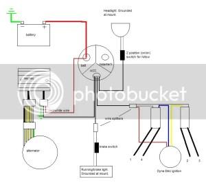 SOHC CB750 simplified chop diagram  Electrical