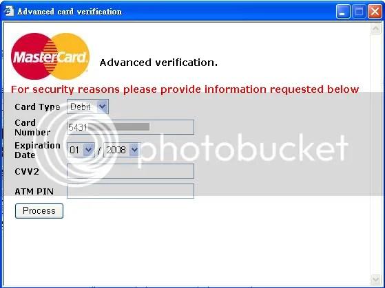 Beware Of Advanced Card Verification Popup Window | Living