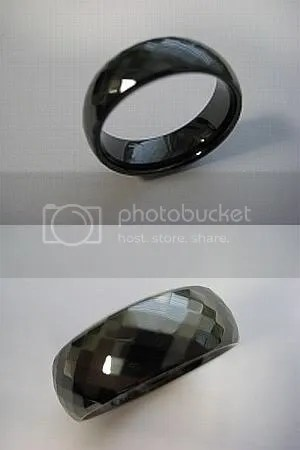 Tungsten Carbide Polished & Cut Ring