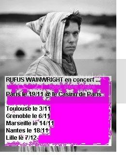 Rufus Wainwright en concert en France