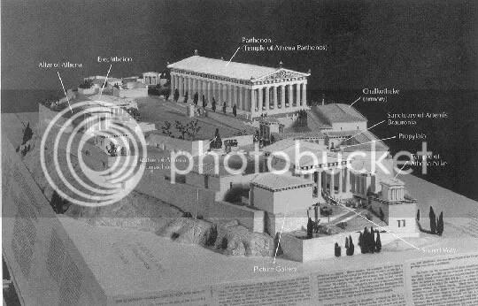 Maquete da Acrópole de Atenas