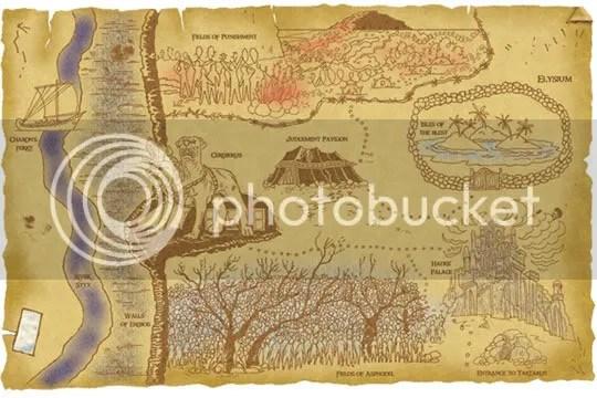 Mapa do Hades segundo Percy Jackson
