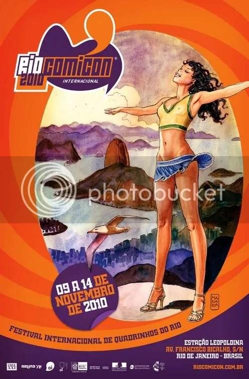 Cartaz da Rio Comicon por Milo Manara.