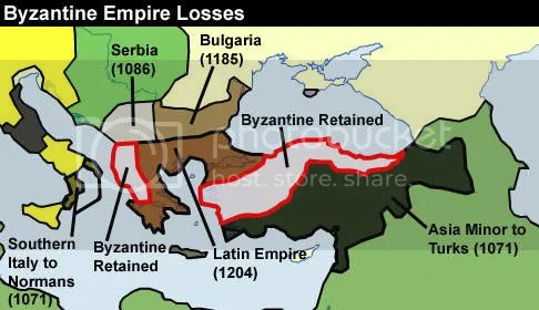 Byzantine Empire losses