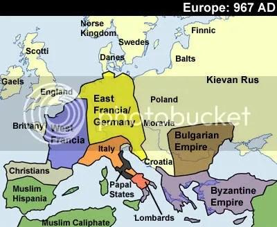 Europe 967 AD