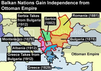 Balkans independence from Ottoman Empire