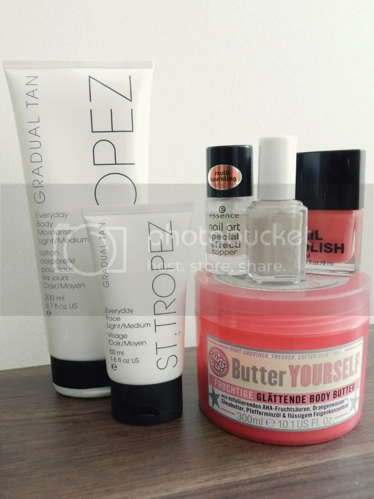 self tan, body butter, nail polish, nails, summer, essentials, 2013, beauty